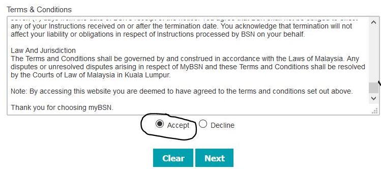 Register Internet Banking BSN