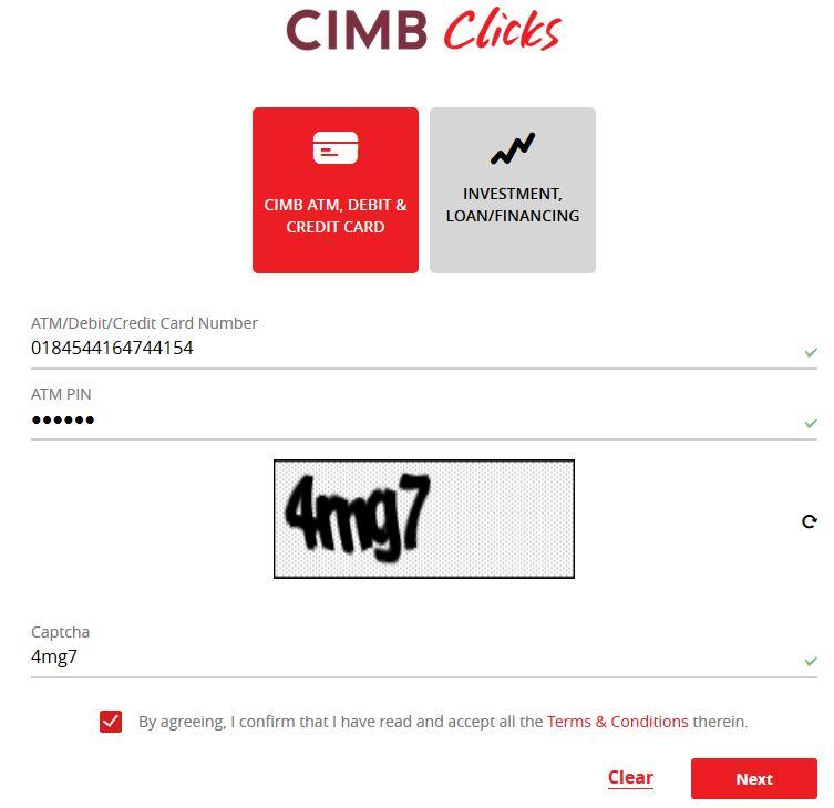 Register Internet Banking CIMBClicks