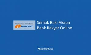 Semak Baki Akaun Bank Rakyat