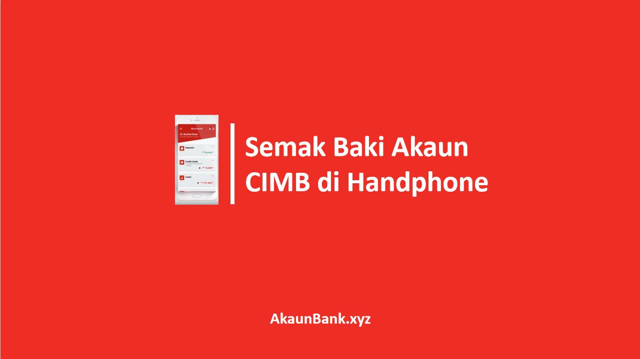 Semak Baki Akaun CIMBClicks