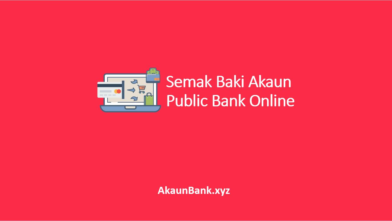 Semak Baki Akaun Public Bank