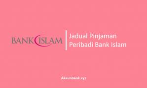 Jadual Pinjaman Peribadi Bank Islam