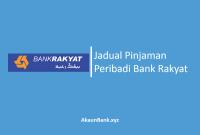 Jadual Pinjaman Peribadi Bank Rakyat