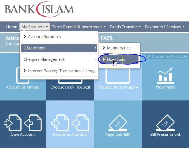 3 Cara Mudah Dapatkan Penyata Akaun Bank Islam