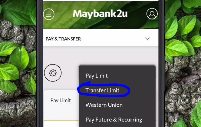 Transfer Limit Maybank2u