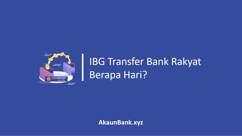 IBG Transfer Bank Rakyat