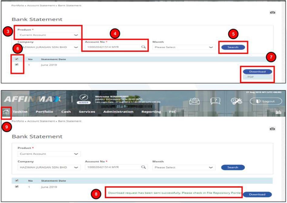 Cara Print Penyata Affin Bank Affinmax